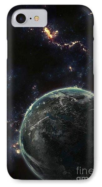 Artists Concept Of A Terrestrial Planet IPhone Case by Tomasz Dabrowski
