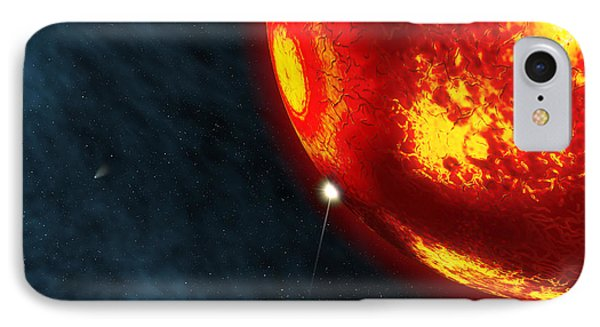 Artists Concept Of An Early Earth IPhone Case by Walter Myers