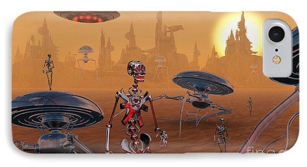 Artists Concept Of Life On Mars Long IPhone Case by Mark Stevenson