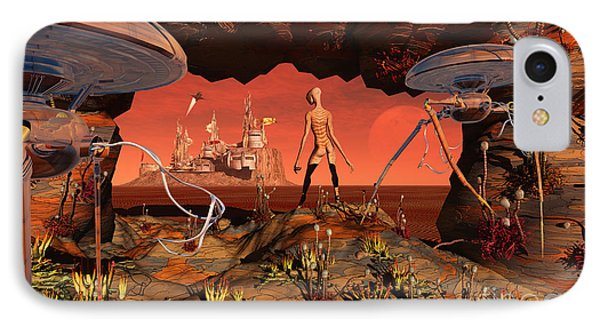 Artists Concept Of Life On Mars IPhone Case by Mark Stevenson