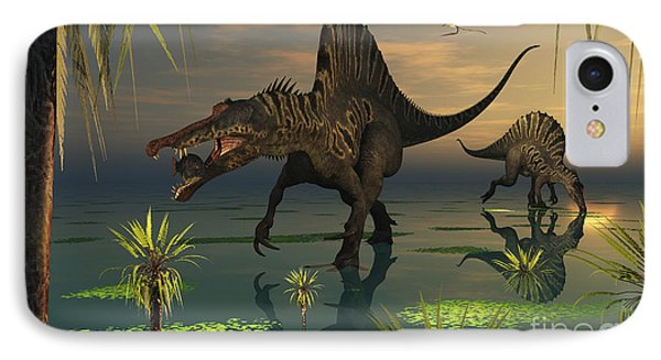 Artists Concept Of Spinosaurus Phone Case by Mark Stevenson