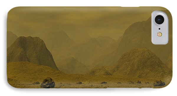 Artists Concept Of The Surface Of Venus Phone Case by Walter Myers