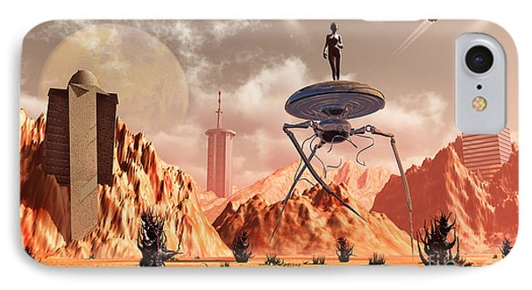 Artists Concept Of What Life On Mars IPhone Case by Mark Stevenson