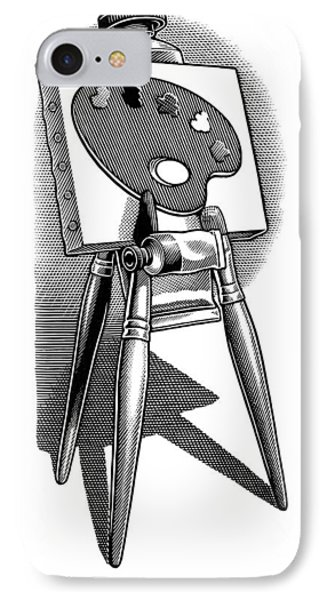 Artist's Easel, Artwork Phone Case by Bill Sanderson