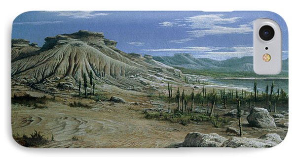 Artist's Impression Of Triassic Period Landscape. Phone Case by Ludek Pesek
