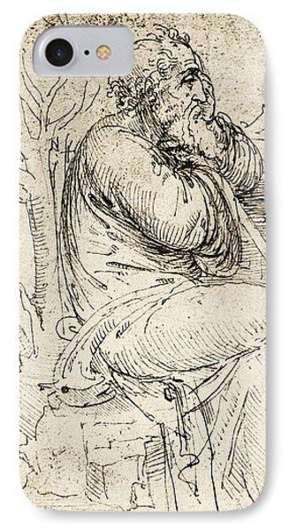 Artwork By Leonardo Da Vinci Phone Case by Sheila Terry