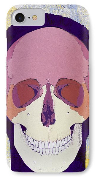 Artwork Of A Human Skull In Front View Phone Case by Hans-ulrich Osterwalder