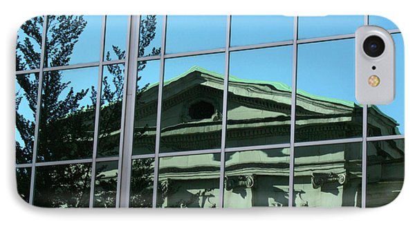 IPhone Case featuring the photograph Arty Reflection Vancouver Canada by John  Mitchell