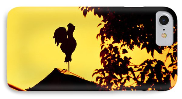 As A Rooster Crows Phone Case by Carolyn Marshall