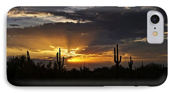 As The Sun Sets In The West  Phone Case by Saija  Lehtonen