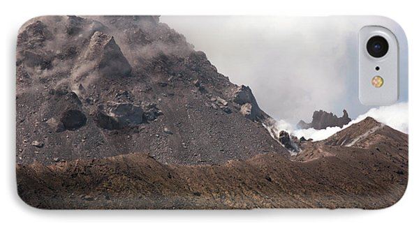 Ash And Gas Rising From Lava Dome Phone Case by Richard Roscoe
