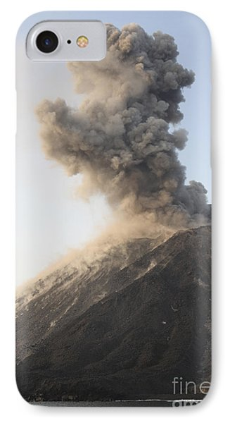 Ash Cloud From Vulcanian Eruption Phone Case by Richard Roscoe