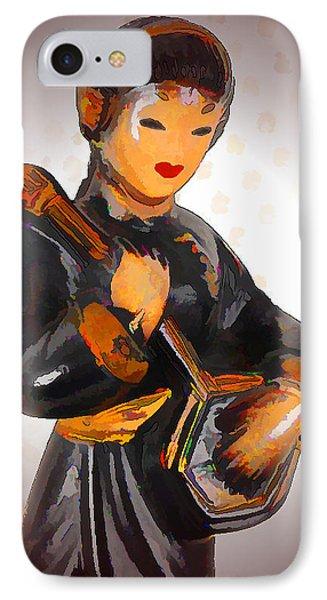 Asian Beauty Minstrel Phone Case by Kathy Clark