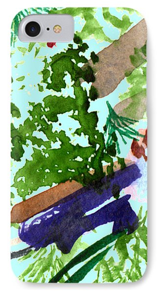 IPhone Case featuring the painting Asian Garden  by Paula Ayers