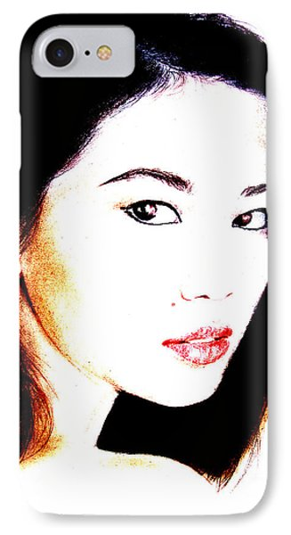 Asian Model  Phone Case by Jim Fitzpatrick