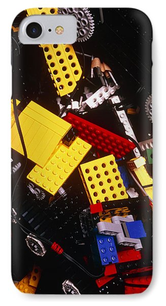 Assorted Lego Bricks And Cogs. Phone Case by Volker Steger