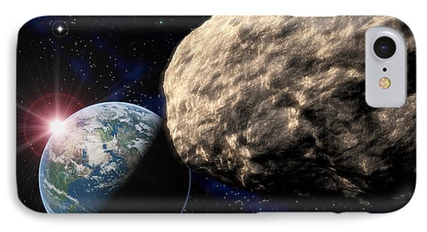 Asteroid Approaching Earth Phone Case by Roger Harris