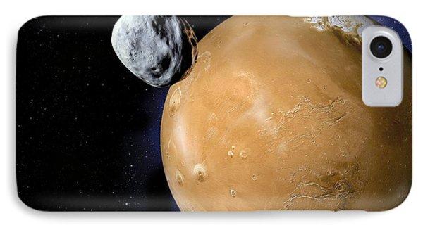 Asteroid Near Mars, Artwork Phone Case by Detlev Van Ravenswaay