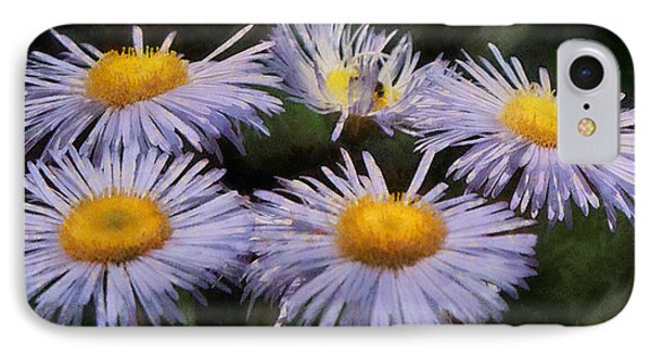 Asters Painterly Phone Case by Ernie Echols