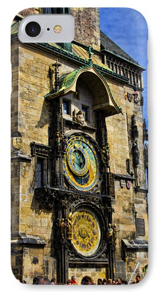 Astonomical Clock    Prague Old Town Phone Case by Jon Berghoff