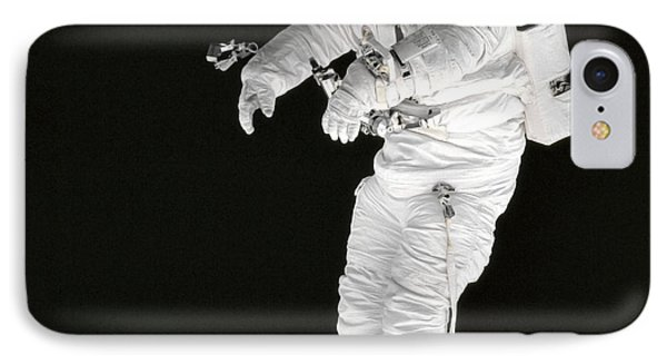 Astronaut Stands On A Portable Foot Phone Case by Stocktrek Images