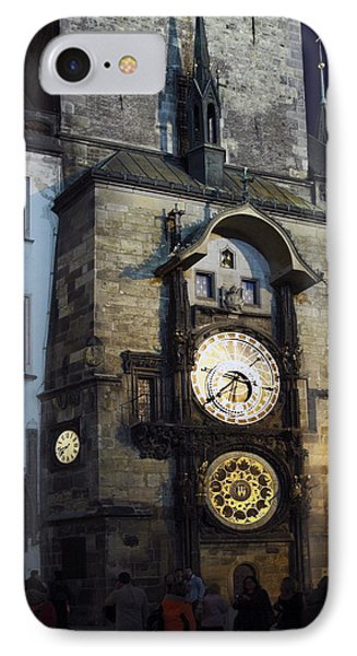Astronomical Clock At Night Phone Case by Sally Weigand