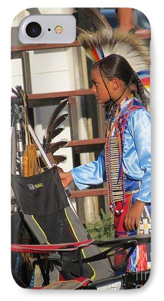IPhone Case featuring the photograph At Blackfeet Pow Wow 03 by Ausra Huntington nee Paulauskaite