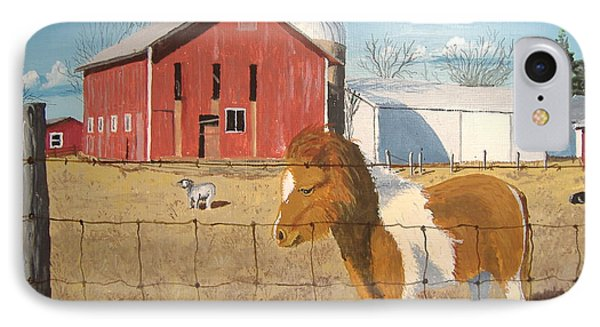 IPhone Case featuring the painting At Home by Norm Starks