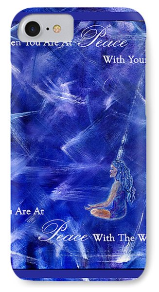 At Peace Phone Case by The Art With A Heart By Charlotte Phillips