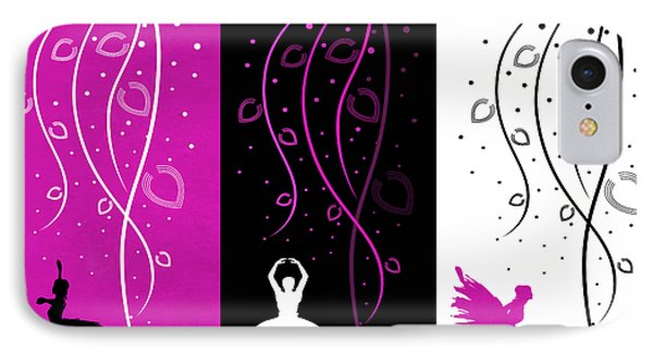 At The Ballet Triptych 2 Phone Case by Angelina Vick