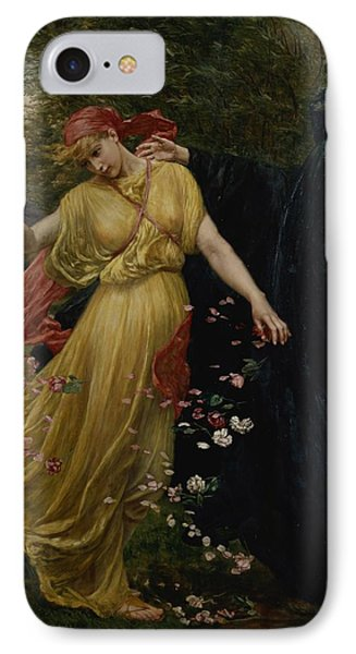 At The First Touch Of Winter Summer Fades Away Phone Case by Valentine Cameron Prinsep