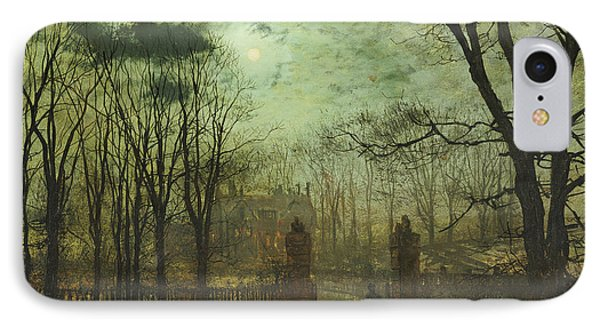 At The Park Gate Phone Case by John Atkinson Grimshaw