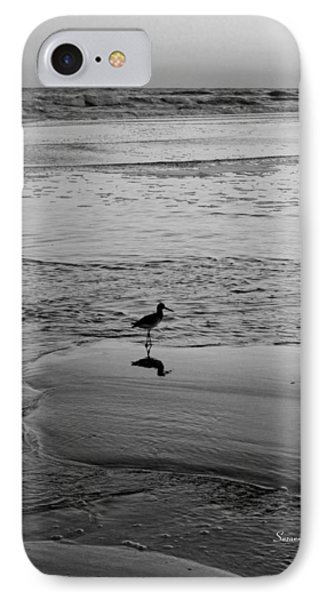 At Twilight In Black And White Phone Case by Suzanne Gaff