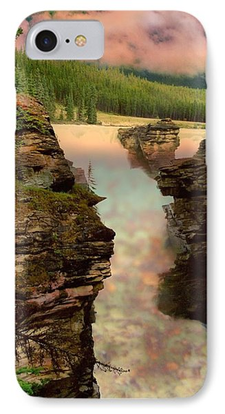 Athabasca Falls Evening Phone Case by Shirley Sirois