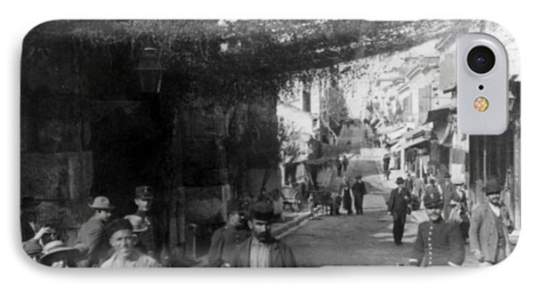 Athens Greece  C 1903 - Aeolos Street And The Stoa Of Hadrian Phone Case by International  Images