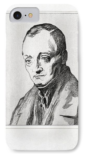 Auguste Comte, French Philosopher Phone Case by Humanities & Social Sciences Librarynew York Public Library