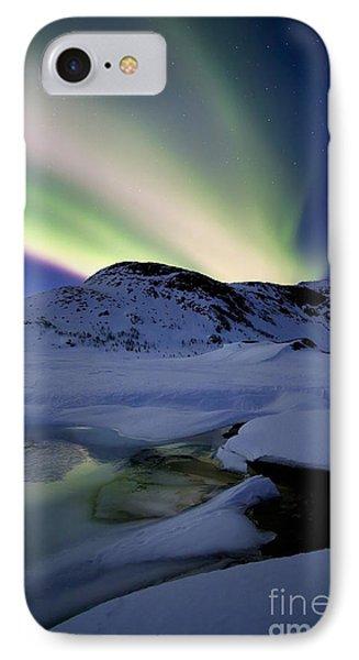 Aurora Borealis Over Mikkelfjellet Phone Case by Arild Heitmann