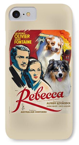 Australian Shepherd Art - Rebecca Movie Poster IPhone Case