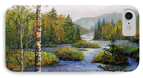 IPhone Case featuring the painting Autum In Michigan by Lou Ann Bagnall