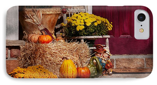 Autumn - Gourd - Autumn Preparations Phone Case by Mike Savad
