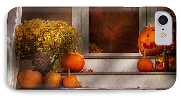 Autumn - Halloween - We're All Happy To See You Phone Case by Mike Savad