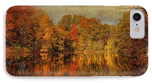 Autumn - Landscape - Tamaques Park - Autumn In Westfield Nj  Phone Case by Mike Savad
