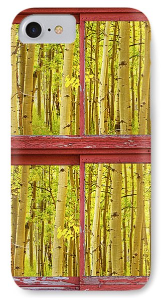 Autumn Aspen Trees Red Rustic Picture Window Frame Photos Fine A Phone Case by James BO  Insogna