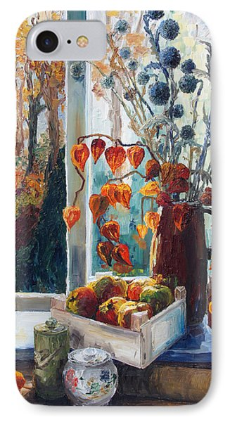 Autumn At The Kitchen Window Phone Case by Barbara Pommerenke