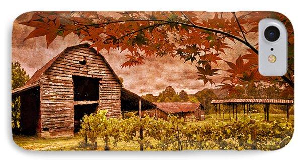 Autumn Cabernet Phone Case by Debra and Dave Vanderlaan
