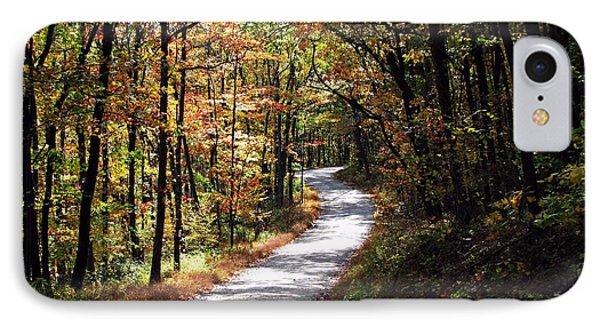 Autumn Country Lane Phone Case by David Dehner