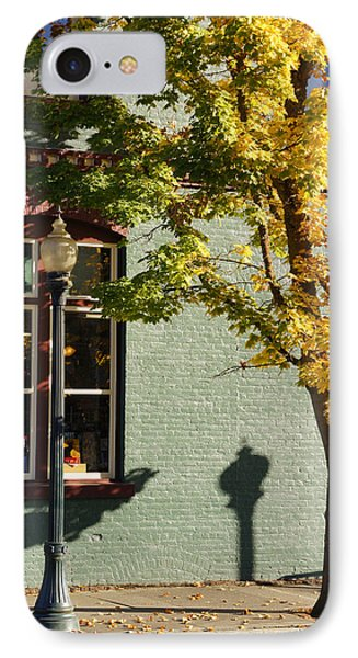 IPhone Case featuring the photograph Autumn Detail In Old Town Grants Pass by Mick Anderson