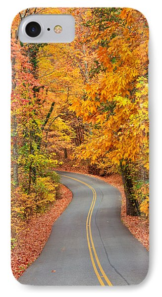 Autumn Drive Signal Mountain IPhone Case
