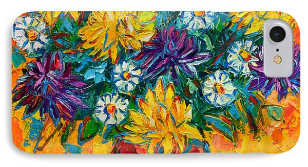 Autumn Flowers Gorgeous Mums - Original Oil Painting Phone Case by Ana Maria Edulescu