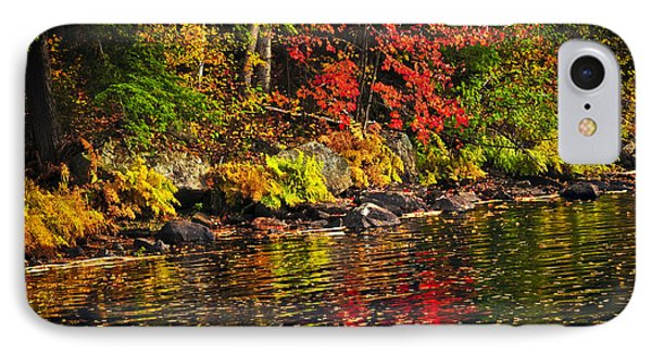 Autumn Forest And River Landscape Phone Case by Elena Elisseeva